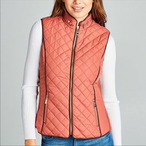 Brand New Mauve Quilted Vest